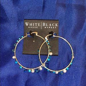 White House Black Market hoop earrings